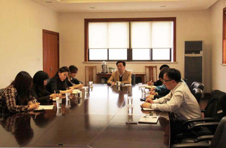 集团团委召开会议,布置五四活动
