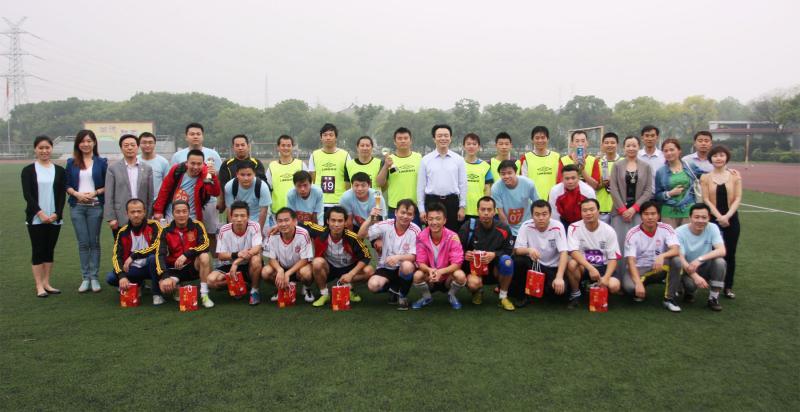 2013年6月1日集团举行第三届企业文化节足球比赛