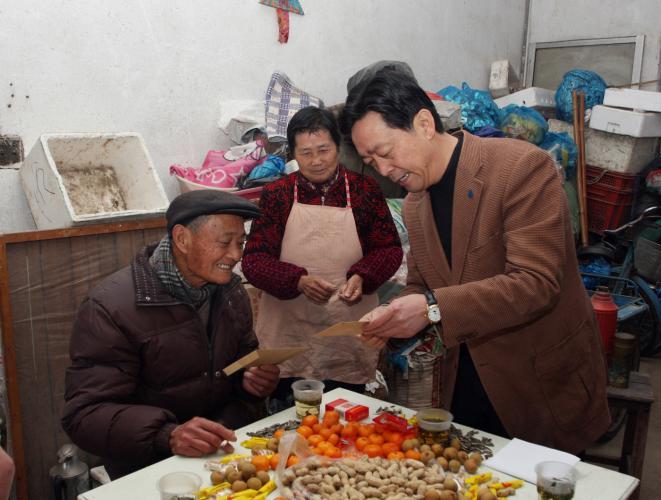 2014年1月21日集团走访历届老干部