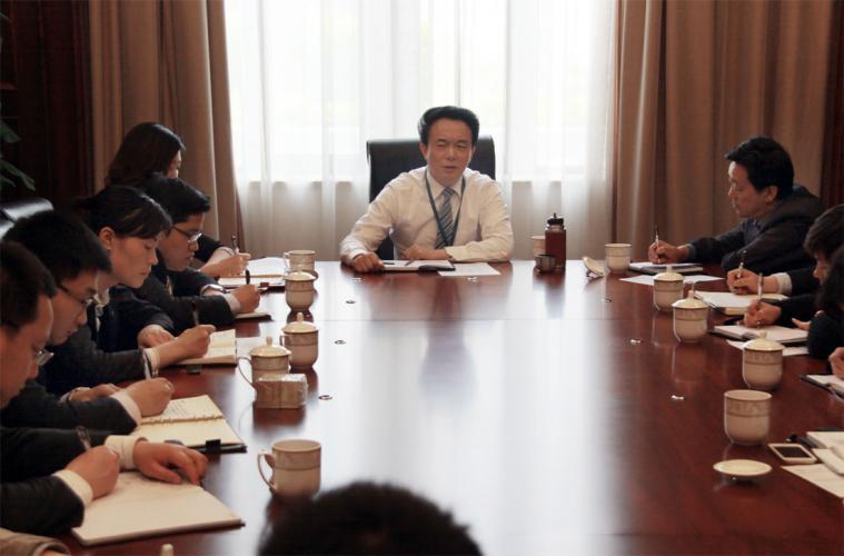 2014年4月29日集团举行新提拔、调整及新进集团青年干部座谈会