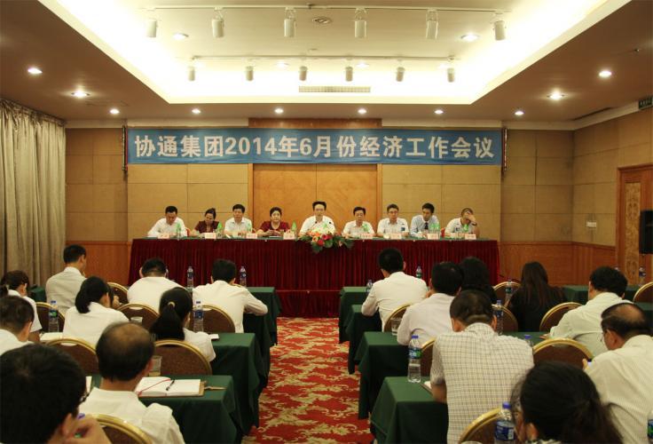2014年6月7日集团举行2014年青年干部培训及6月份经济工作例会