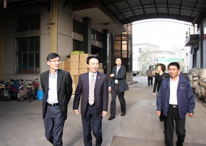 2014年11月13日下午,嘉定区委书记马春雷一行在集团总裁唐庆余的陪同下考察集团工业园区